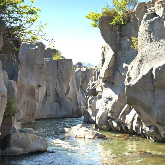 The Alcantara River and Alcantara Gorges