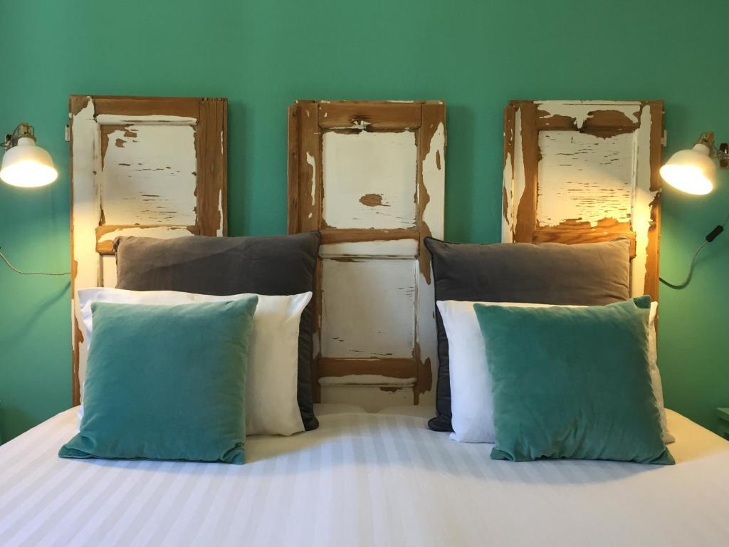 เตียงในห้องที่ Casa Verdazul