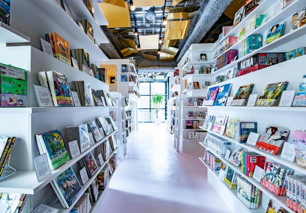 ห้องสมุดในโฮสเทล