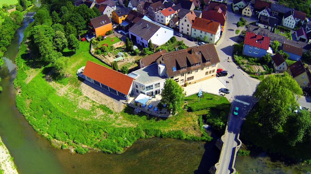 วิว Landgasthof zum Hirschen จากมุมสูง