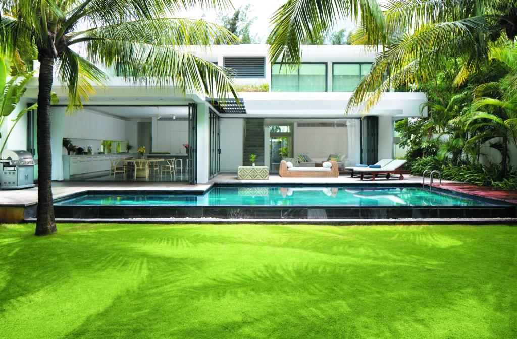 Dinh Thự Deluxe Bên Bờ Sông có Hồ Bơi