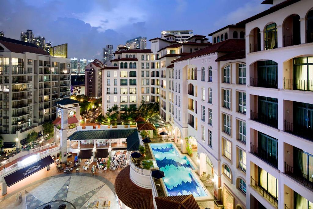 วิวเมืองสิงคโปร์ทั่วไปหรือวิวเมืองที่เห็นจากอพาร์ตโฮเทล