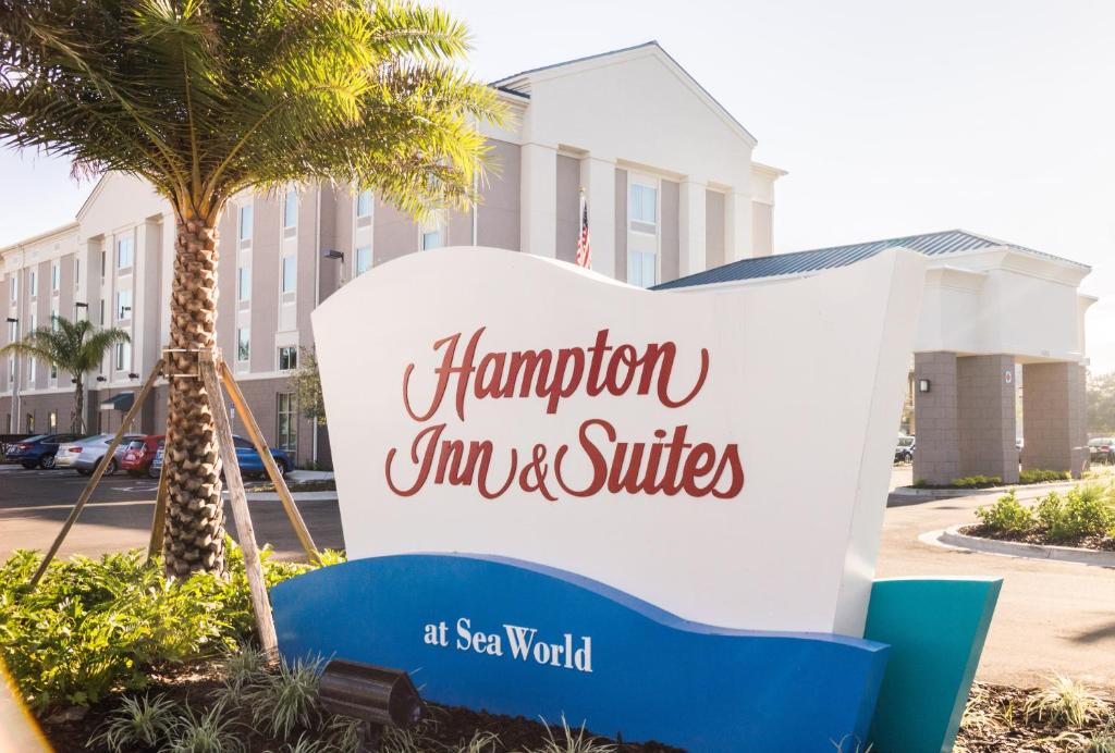 Hampton Inn & Suites Orlando near SeaWorld.