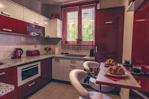 ครัวหรือมุมครัวของ Apartman on Gellért Hill