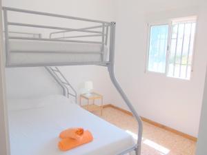 เตียงสองชั้นในห้องที่ Villa Vista