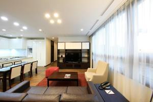 พื้นที่นั่งเล่นของ Orakai Insadong Suites