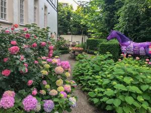 สวนหย่อมนอก Ferienwohnung KunstQUARTIER03