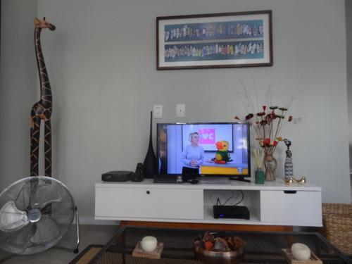 โทรทัศน์และ/หรือระบบความบันเทิงของ LOFT aconchegante e agradavel