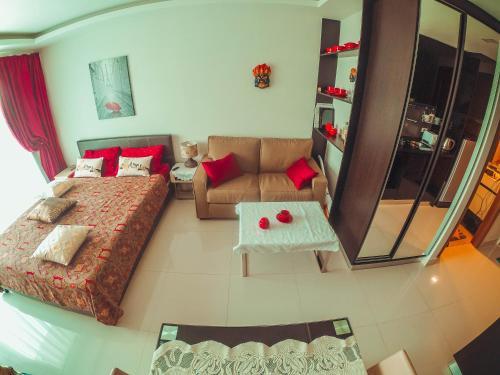 พื้นที่นั่งเล่นของ Club Royal Wongamat Apartment Unit 611