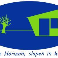 De Horizon, slapen in hutten